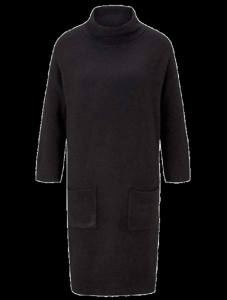 Marken-Strickkleid, schwarz